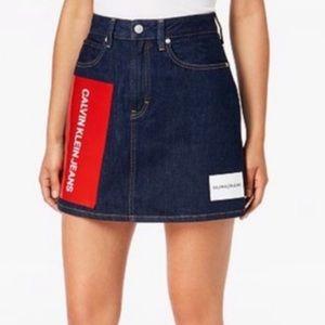 NWT Calvin Klein high rise printed mini skirt 26